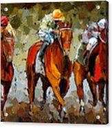 Close Race Acrylic Print