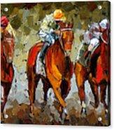 Close Race Acrylic Print