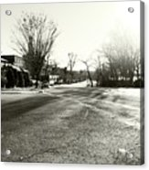 Close To Asphalt Acrylic Print