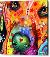Close Up Lab Warpaint Acrylic Print by Dean Russo