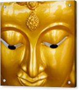 Close-up Of A Golden Buddha Acrylic Print