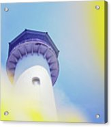 Close Up Of A Lighthouse Building Acrylic Print