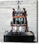 Close Up Of A Tugboat In Venice Harbor Acrylic Print