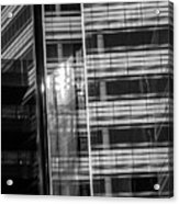 Close Up Of Black And White Glass Building Acrylic Print