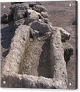 Close Up Of Excavations In The Ancient Acrylic Print