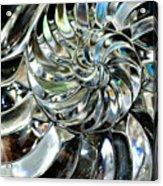 Close-up Of Glass Chambered Nautilus Acrylic Print