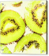 Close Up Of Kiwi Slices Acrylic Print