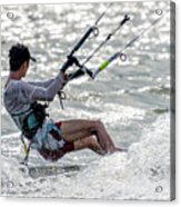 Close-up Of Male Kite Surfer In Cap Acrylic Print