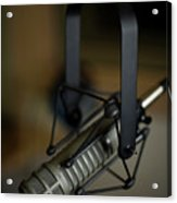 Close-up Of Recording Studio Microphone Acrylic Print