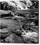Close Up Of Reedy Falls In South Carolina B W Acrylic Print