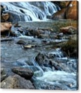 Close Up Of Reedy Falls In South Carolina II Acrylic Print