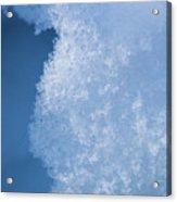 Close Up Of Snow Acrylic Print