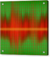 Close-up Of Sound Waves Acrylic Print