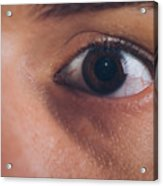 Close-up Of The Eye Of A Man Acrylic Print
