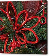Close-up Of Toys On Christmas Tree Acrylic Print