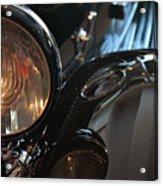 Close Up On Black Shining Car Round Light Acrylic Print