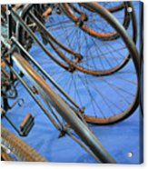 Close Up On Many Wheels From Bicycles  Acrylic Print