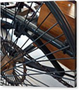 Close Up On Vintage Wheel Of Bicycle  Acrylic Print