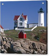 Close Up View Of A Lighthouse Cape Neddick Maine Acrylic Print