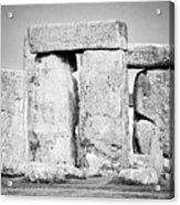 Close Up View Of Circle Of Sarsen Stones With Lintel Stones Stonehenge Wiltshire England Uk Acrylic Print