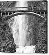 Close Up View Of Multnomah Falls Acrylic Print