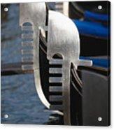 Close Up Views Of Gondola Bows Acrylic Print