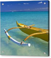 Close-up Yellow Canoe Acrylic Print by Dana Edmunds - Printscapes