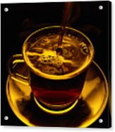 Close View Of Coffee Being Poured Acrylic Print