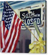 Closed For Business Acrylic Print