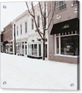 Closed For Snow Acrylic Print
