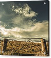 Closed Gates And Open Paddocks Acrylic Print