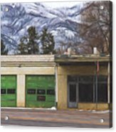 Closed Service Station Painterly Impressions Acrylic Print