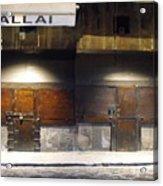 Closed Shop Stall Doors 2 Acrylic Print