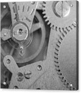 Closeup Macro Of Clock Mechanism Acrylic Print