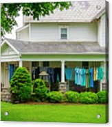 Clothes On The Front Porch Acrylic Print