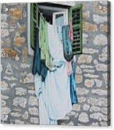 Clotheslines In Dobrovnik Acrylic Print