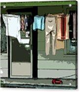 Cloths Line Acrylic Print