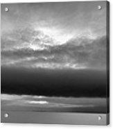 Cloud Above Lake Simcoe Bw  Acrylic Print
