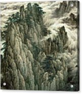 Cloud And Mountain Peak Acrylic Print