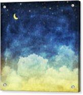 Cloud And Sky At Night Acrylic Print