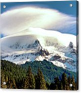 Cloud Capped Mount Hood Acrylic Print