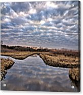 Cloud Covered River 2 Acrylic Print