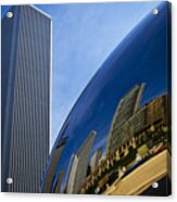 Cloud Gate And Aon Center Acrylic Print
