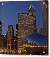 Cloud Gate At Night Acrylic Print
