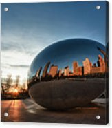 Cloud Gate At Sunrise Acrylic Print