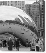 Cloud Gate Chicago Bw 2 Acrylic Print