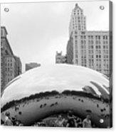 Cloud Gate Chicago Bw 3 Acrylic Print