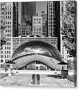 Cloud Gate Park Black And White Acrylic Print