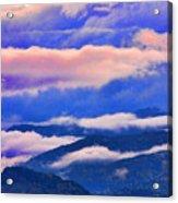 Cloud Layers At Sunset Acrylic Print