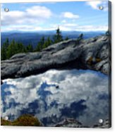 Cloud Pool On Borestone Mountain Acrylic Print